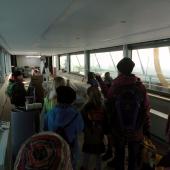 Auf dem Solarboot
