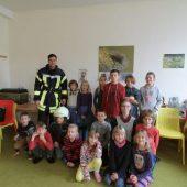 Feuerwehrmann zu Besuch