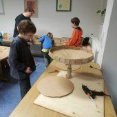 Murmelbahn bauen zur Lesenacht
